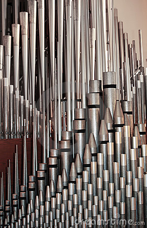 photograph of organ pipes