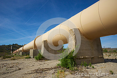 Pipeline through California Desert