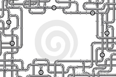 Pipelines with valve steel tubing copy space