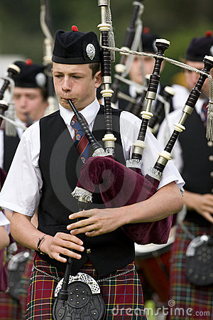 Piper - Highland Games - Scotland Editorial Image