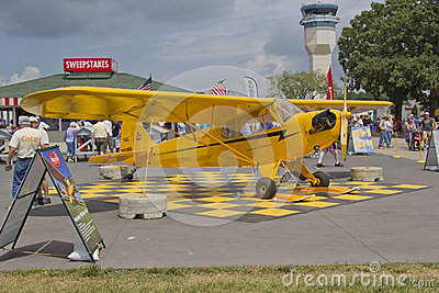 Piper Yellow Cub Airplane Editorial Stock Image