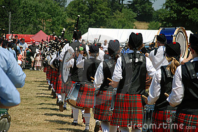 Pipers in Formation Editorial Stock Photo