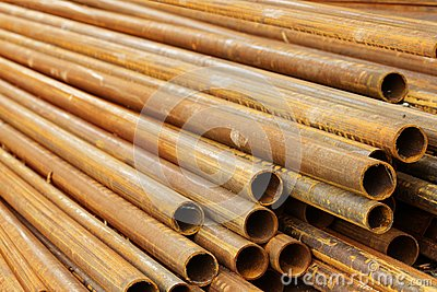 Pipes stack round cut