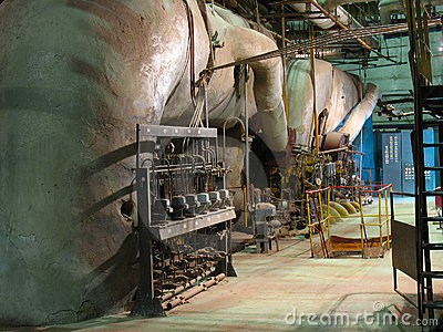 Pipes, tubes, machinery at power plant