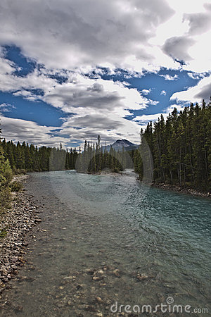 Pipestone River near Lake Louise - Banff