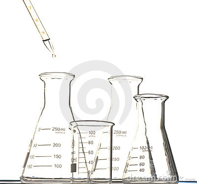 The pipette and beaker