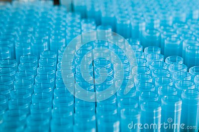 Pipette nozzles in a rack