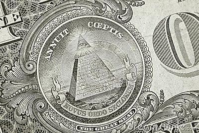 Pirâmide do detalhe do dólar