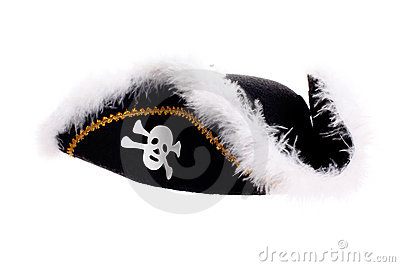 Piracy hat with skull