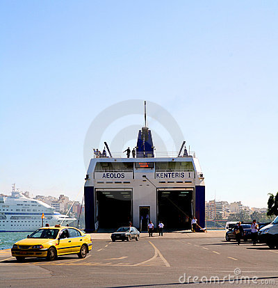 Piraeus Port vehicle ferry Editorial Photography