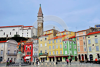 Piran cityscape Editorial Photography