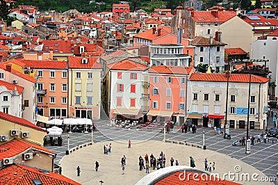 Piran old town, Slovenia Editorial Photo