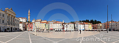 Piran - Tartini s square panorama