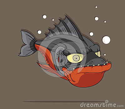 Piranha Fish Vector