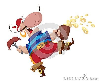 Pirat mit Wurst