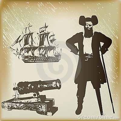 Free Pirate Background Royalty Free Stock Photos - 15524238