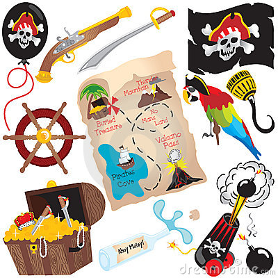 Free Pirate Birthday Party Clip Art Elements Stock Photos - 10657753