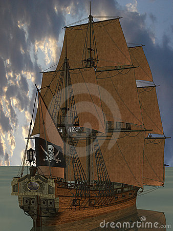 Free Pirate Boat Stock Photography - 5168452