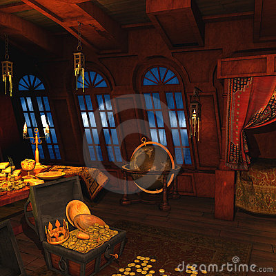Free Pirate Captains Cabin Stock Photo - 12758730