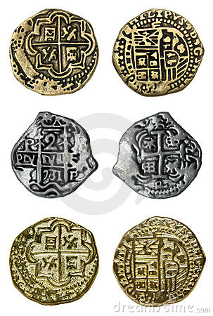 Free Pirate Coins Royalty Free Stock Photos - 6406488