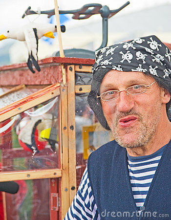 Pirate Entertainer; Tall Ships Festival. Editorial Photography