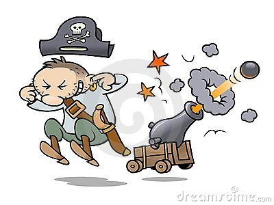 Pirate firing his cannon