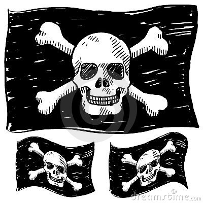 Pirate flag sketch
