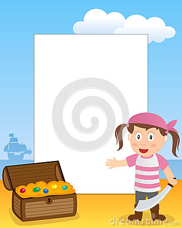 Pirate Girl Photo Frame