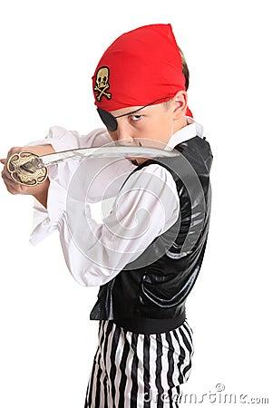 Pirate holding a cutlass sword
