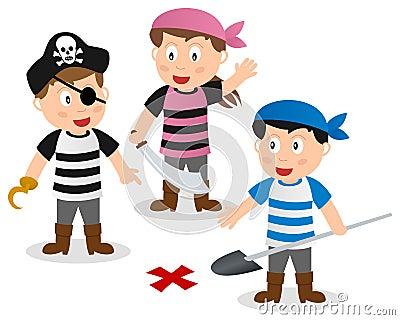 pirate kids searching treasure stock photography image Tiger Head Clip Art Crocodile Clip Art
