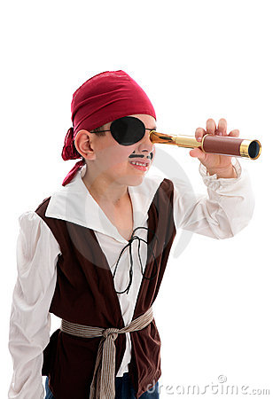 Pirate looking through scope
