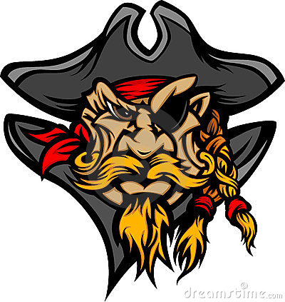Pirate Mascot with Hat Cartoon Image