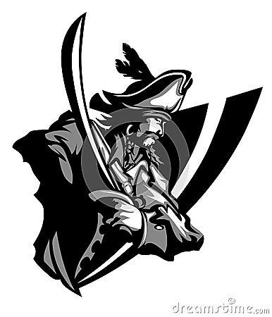 Pirate Mascot Vector Logo