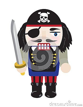 Free Pirate Nutcracker Stock Photography - 16458972