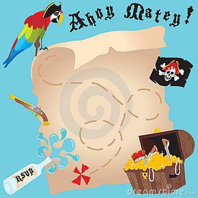 Free Pirate Party Invitation Royalty Free Stock Images - 10688209