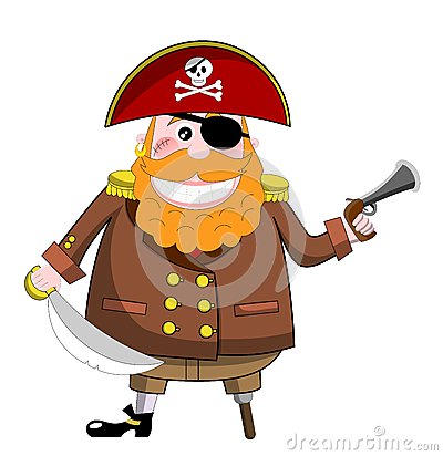 Pirate with Pistol and Sword