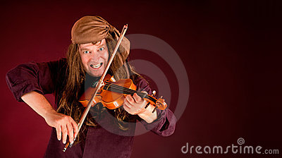 Pirate Playing Violin to Announce Something