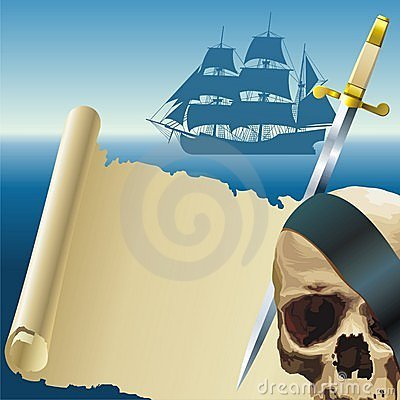 Free Pirate S Parchment Stock Images - 9891274