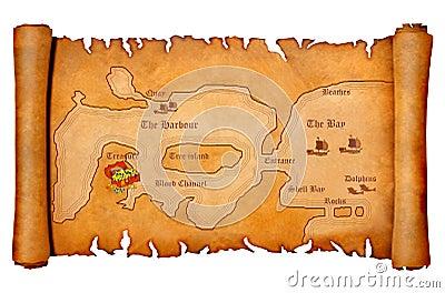 Pirate s treasure map