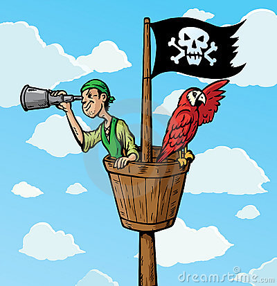 Free Pirate Scout Stock Photography - 12884952