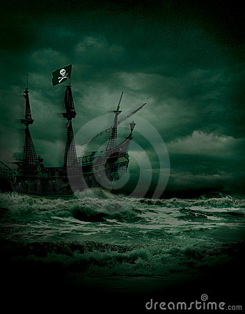 Free Pirate Seas Royalty Free Stock Photo - 13700935