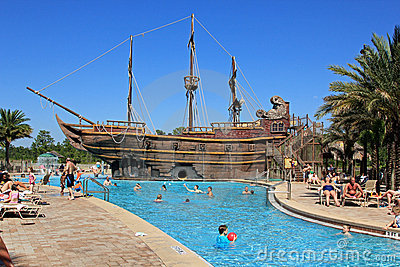 Pirate ship Editorial Stock Photo