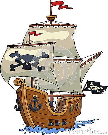 Free Pirate Ship Royalty Free Stock Image - 57036286