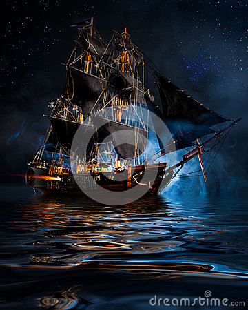 Free Pirate Ship Stock Photos - 61196063
