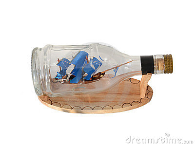 Pirate Ship in a Bottle