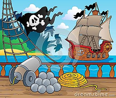Pirate ship deck theme 4