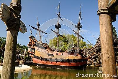 Pirate ship -Disneyland Paris Editorial Photography