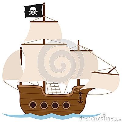 Free Pirate Ship Or Sailing Boat Stock Photos - 30402773