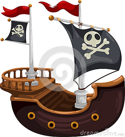 Free Pirate Ship Vector Royalty Free Stock Photos - 25207578