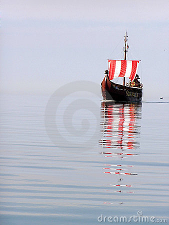 Pirate ship on water